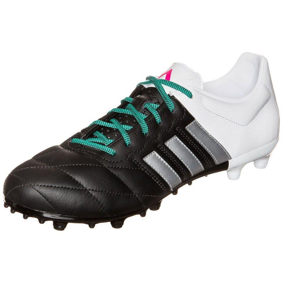 adidas Performance ACE 15.3 FG/AG Leather Fußballschuh Herren in schwarz / weiß
