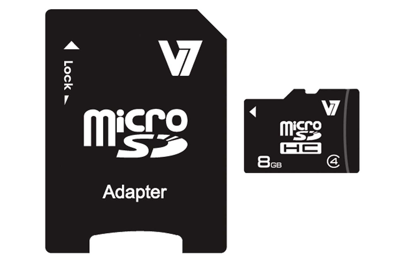 V7 Secure Digital Karte »V7 MICROSD CARD 8GB SDHC CL4«