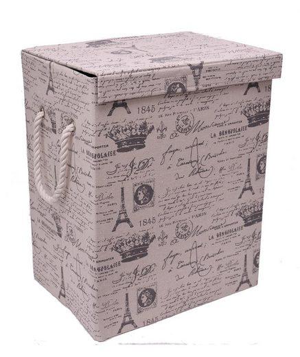 Franz Müller Flechtwaren Wäschebox (1 Stück), Höhe 50 cm, Motivdruck