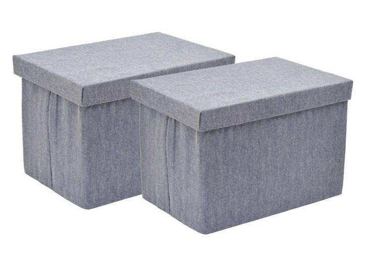 franz m ller flechtwaren aufbewahrungsboxen 2tlg rechteckig online kaufen otto. Black Bedroom Furniture Sets. Home Design Ideas