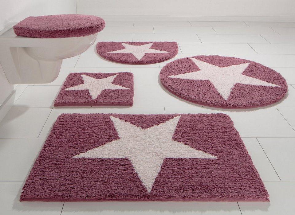 Badematte, Home Affaire Collection, »Mary«, Höhe 17 mm, Bio-Baumwolle, rutschhemmender Rücken in rosa