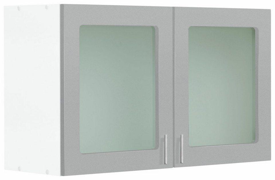 Held Möbel Glashängeschrank »Mira« in alufarben