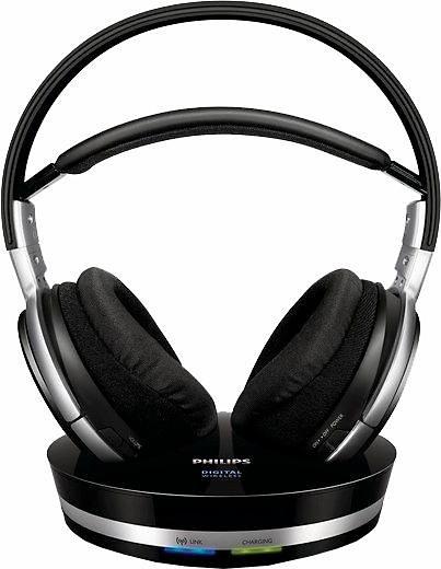Philips SHD9000/10 Funk-Kopfhörer in schwarz