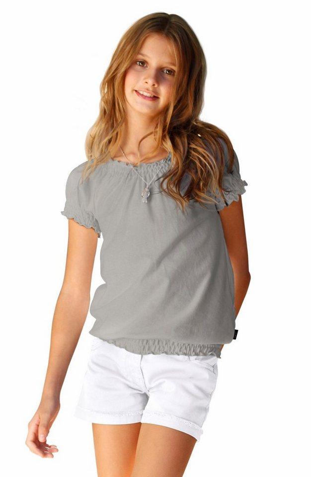 Arizona T-Shirt mit Carmenausschnitt, für Mädchen in Grau