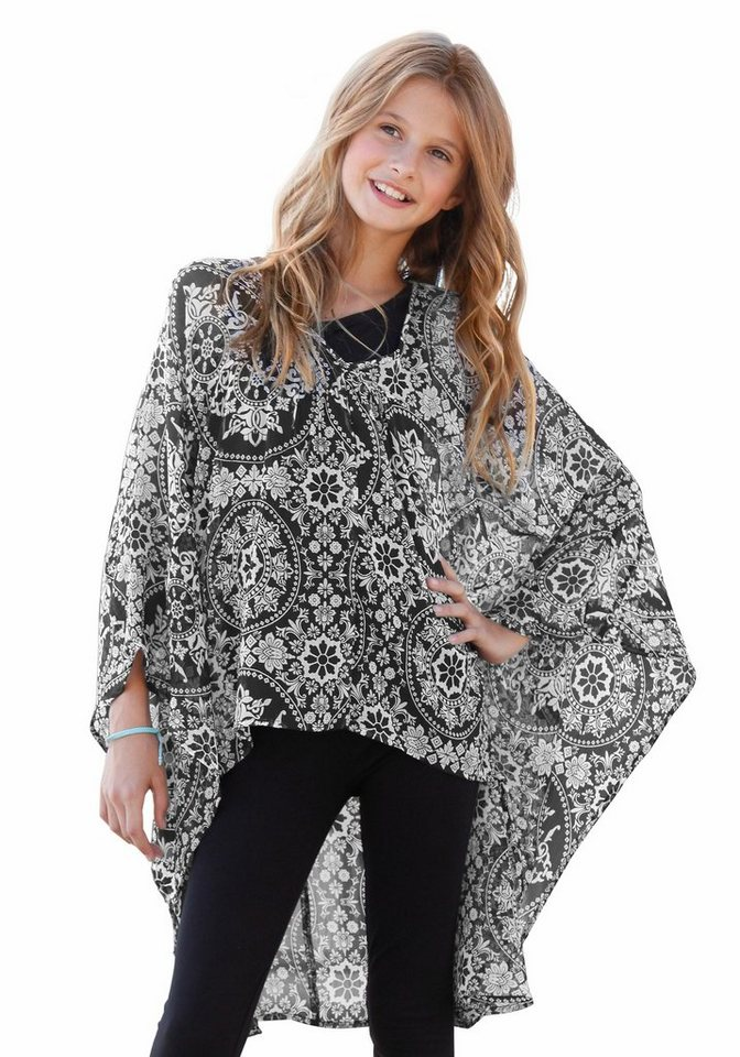 Buffalo Chiffonbluse mit tollem Ornament-Allovermuster in schwarz