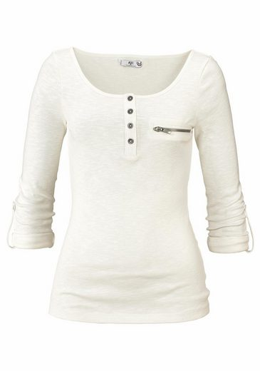 Ajc Langarmshirt With Button Tape