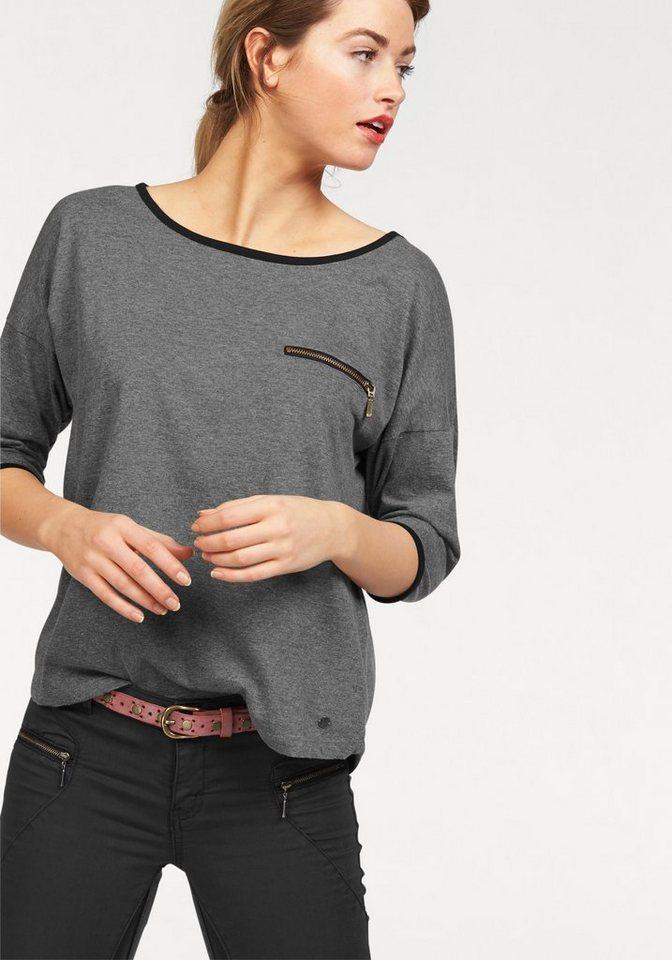 AJC Oversize-Shirt mit 3/4 Ärmeln in grau