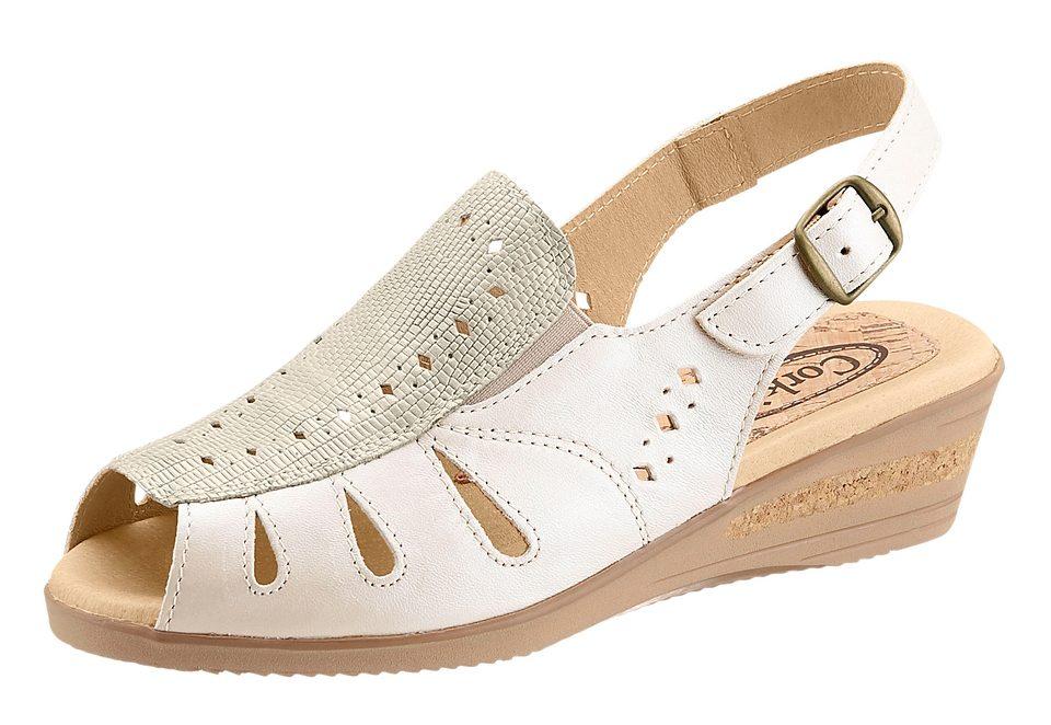 Sandalette mit seitlichen Gummizug - broschei