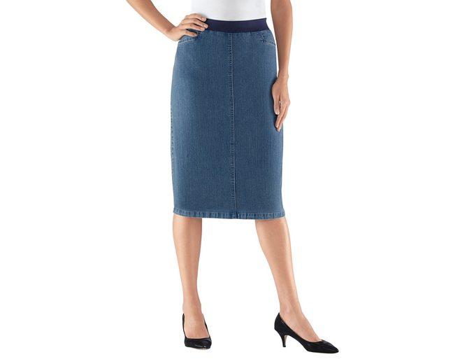 Kostenloser Versand Günstig Kaufen Gefälschte Classic Basics Jeans-Rock in knieumspielender Länge Amazon Online Kaufen Authentische Online yciAN
