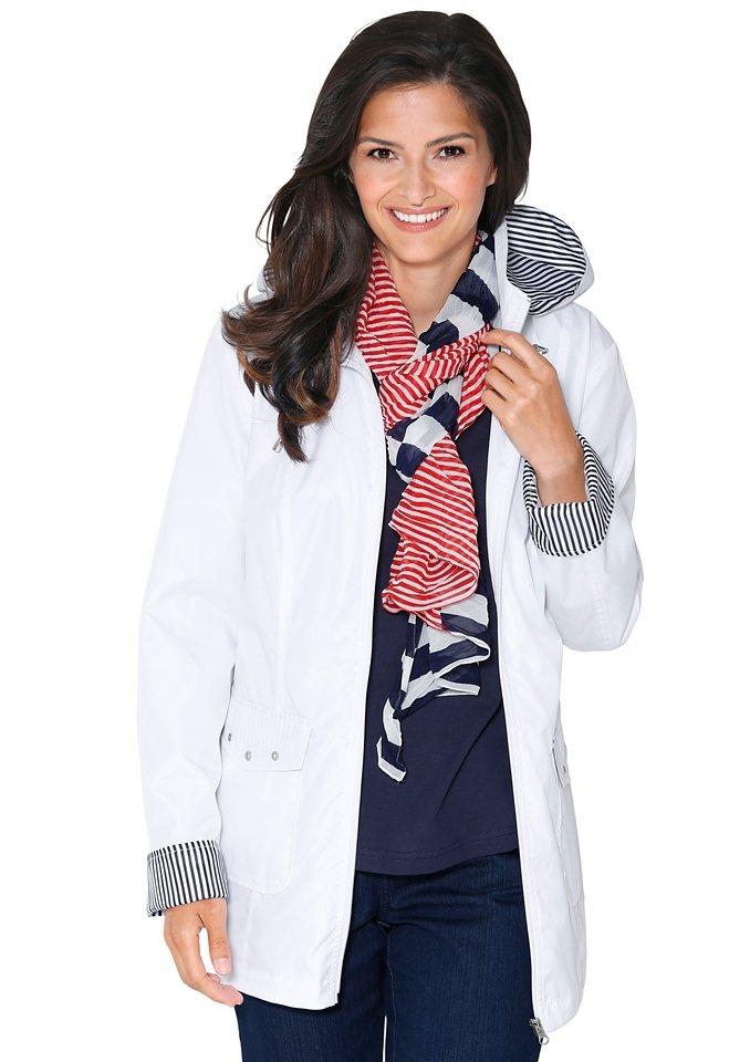 Classic Basics Jacke mit gestreiften Akzenten in weiß