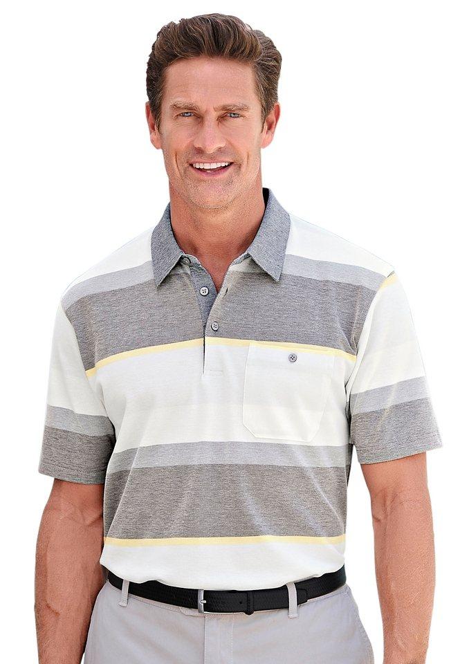 Hajo Poloshirt in »stay fresh«-Qualität in anthrazit-beige