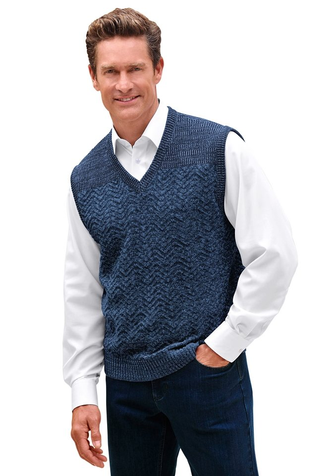 J. Witt Collection Pullunder in jeansblau-meliert