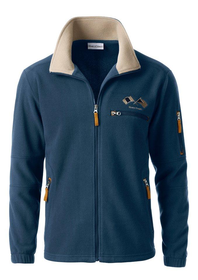 MARCO DONATI Fleece-Jacke für kühle Tage in jeansblau