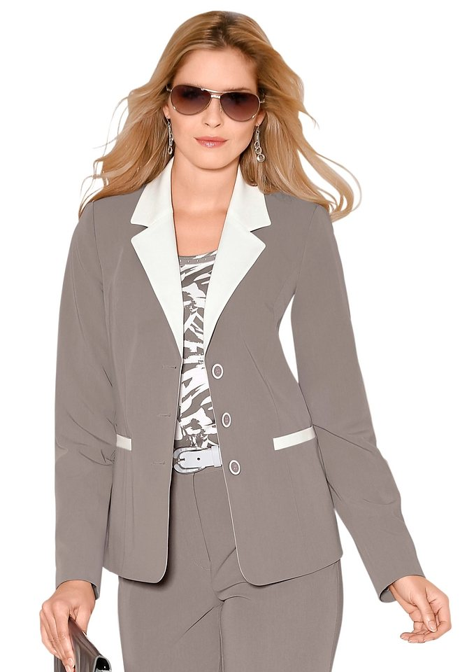 Lady Blazer in taupe