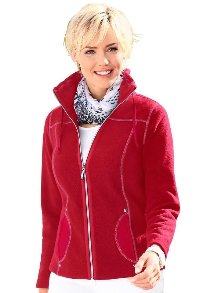 Collection L. Fleece-Jacke in rot