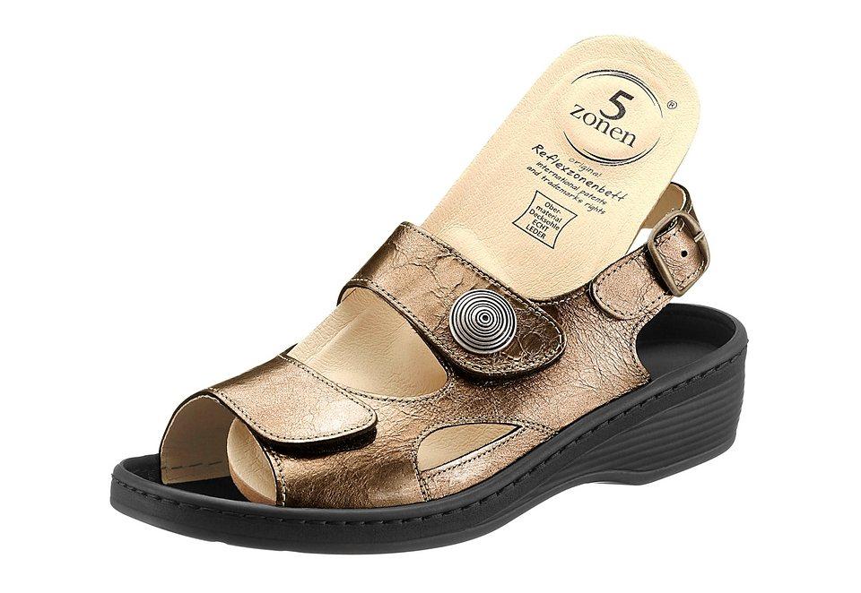 Sandale in bronzefarben