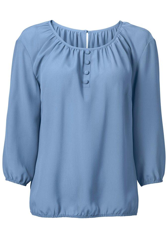 Classic Basics Bluse in femininem Schnitt in bleu