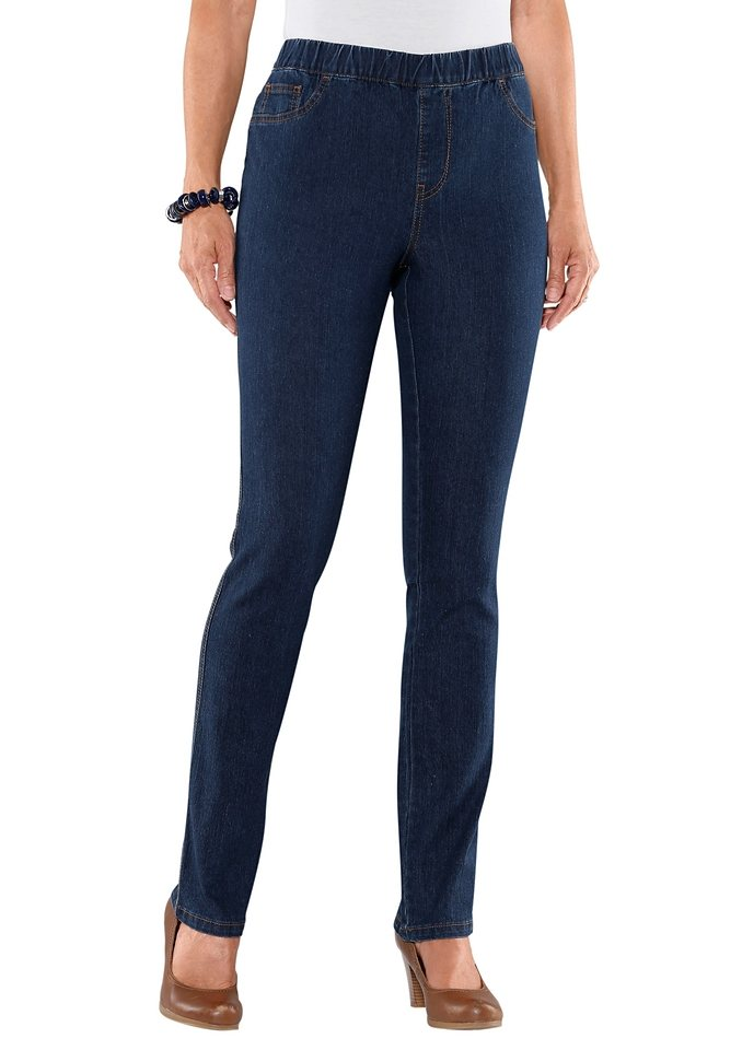 Classic Basics Jeans in 5-Pocket-Form in blue-stone-washed