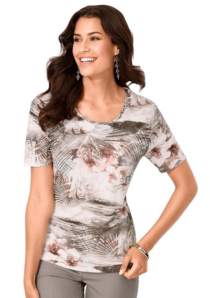 Alessa W. Shirt in khaki-rosé-bedruckt