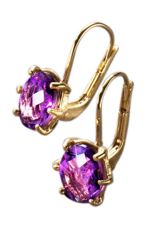 Paar Ohrhänger in goldfarben