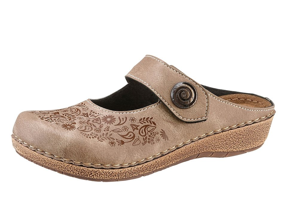 Clogs in taupe