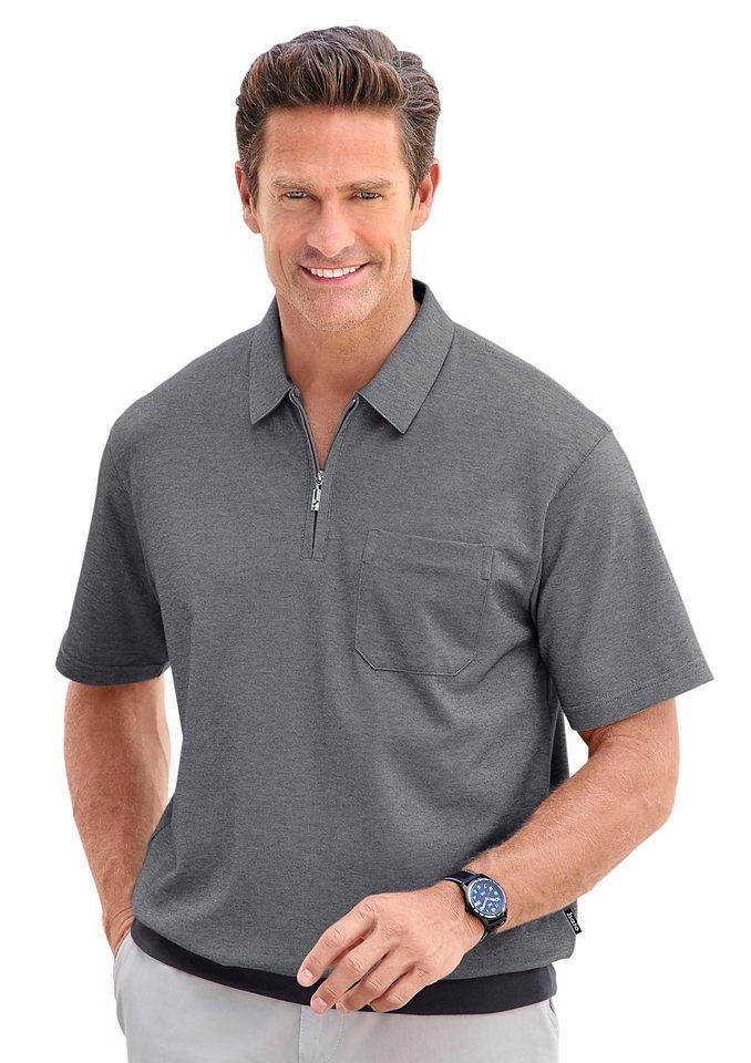 Hajo Poloshirt in »stay fresh«-Qualität in anthrazit
