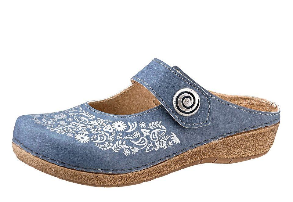 Clogs in jeansblau