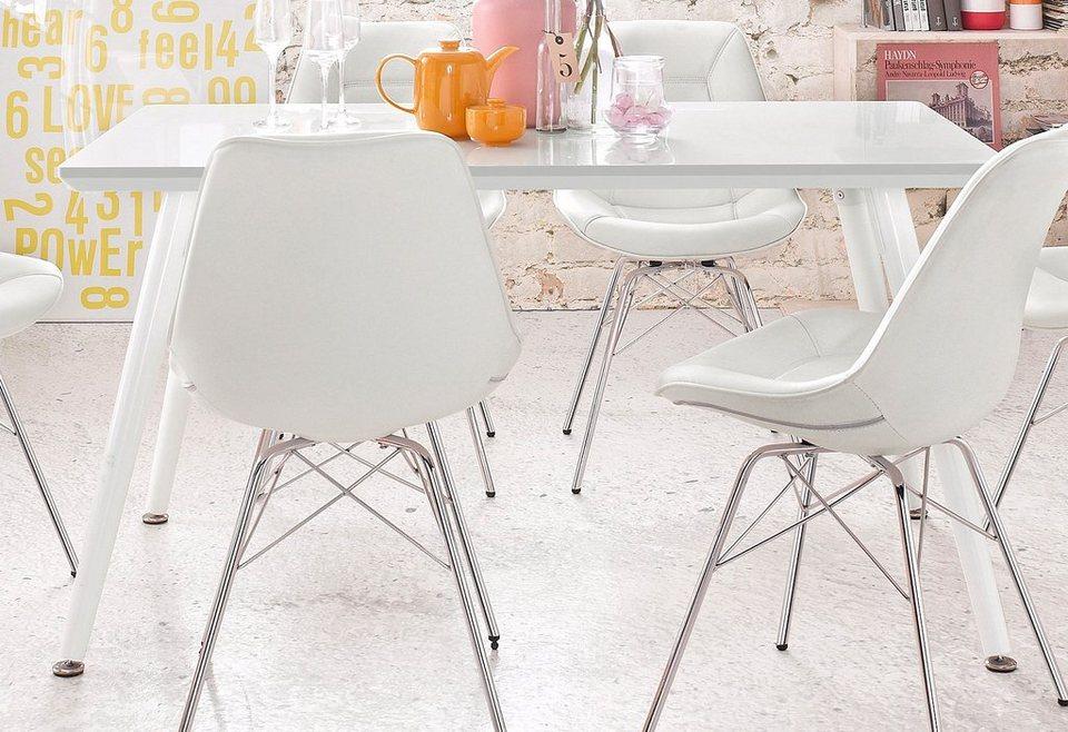 Esstisch, Breite 140 cm in weiß