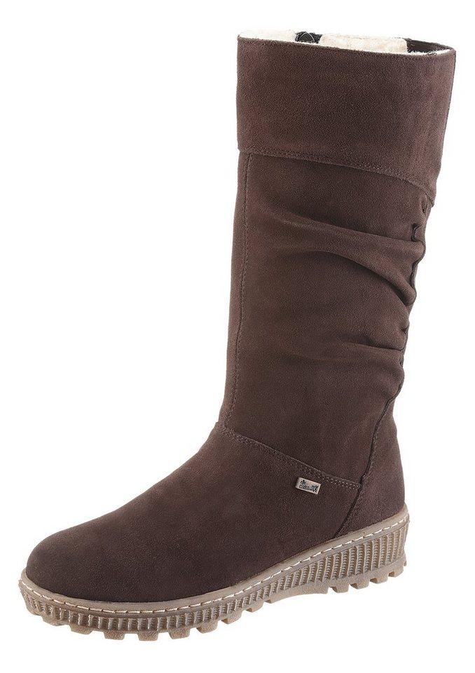 Rieker Stiefel mit Tex-Ausstattung in dunkelbraun