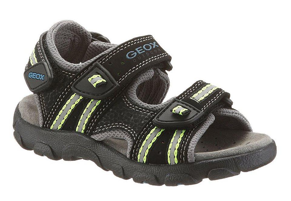 Geox Sandale mit Klettverschluss in schwarz komb.