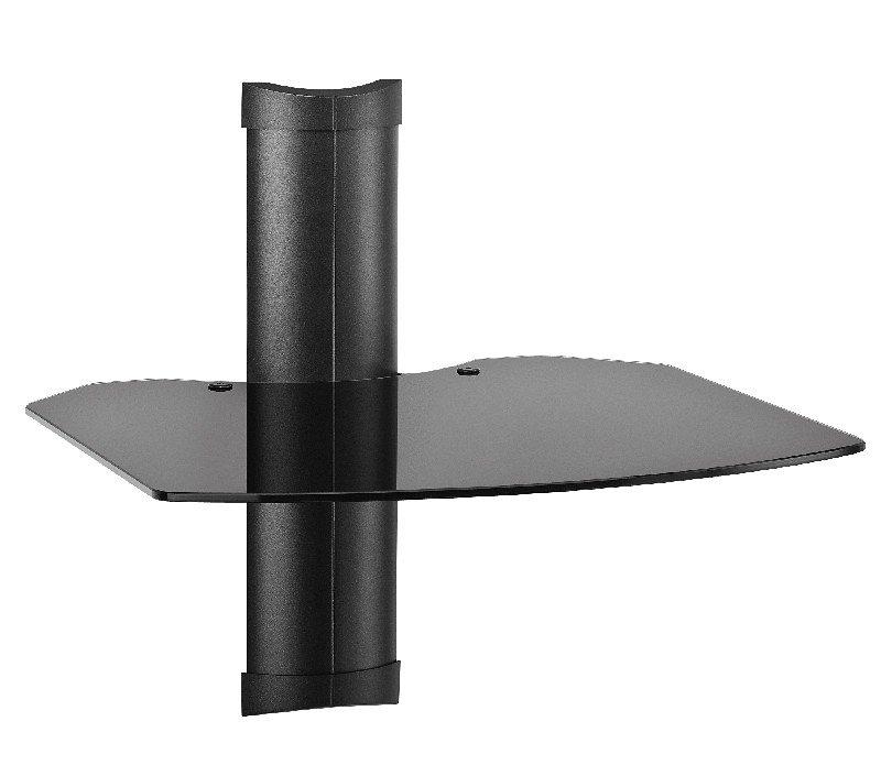 OmniMount 1004315-1 Universell einstellbares AV-Wandregal in schwarz
