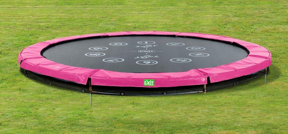 Trampolin »EXIT Twist Ground«, ø 427 cm Rosa/Grau