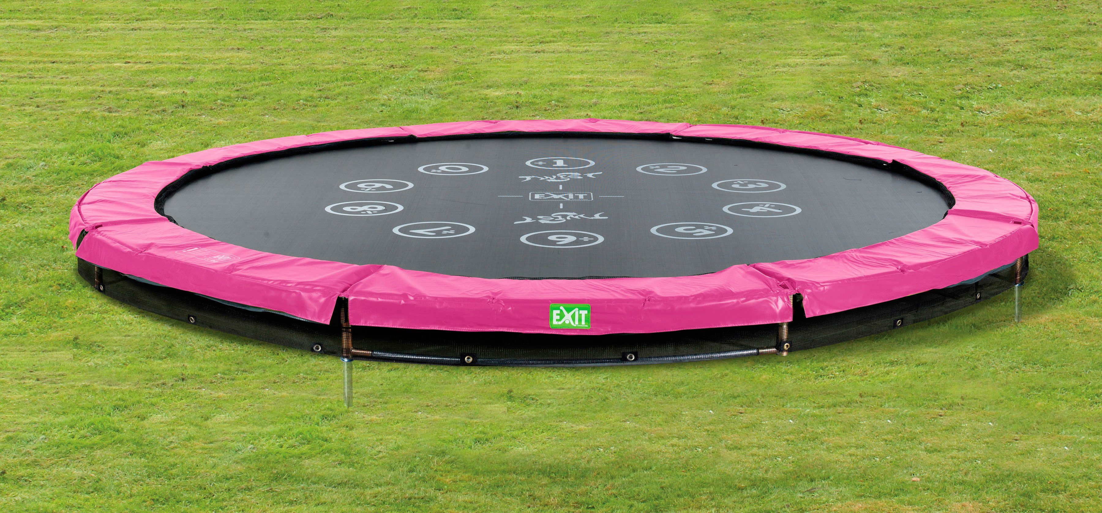 Exit Trampolin »EXIT Twist Ground«, ø 427 cm Rosa/Grau