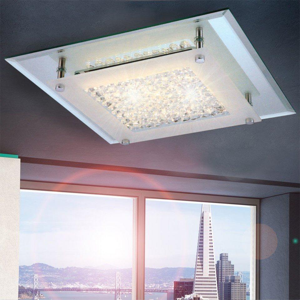 Licht-Trend Deckenleuchte »Flowy LED-Deckenleuchte mit Glaskristallen« in Silber