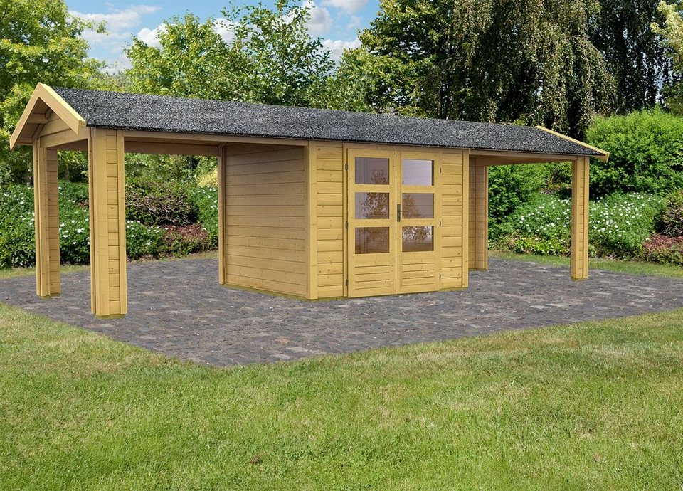 Set: Gartenhaus »Taranis 3«, BxT: 244x244 cm in natur