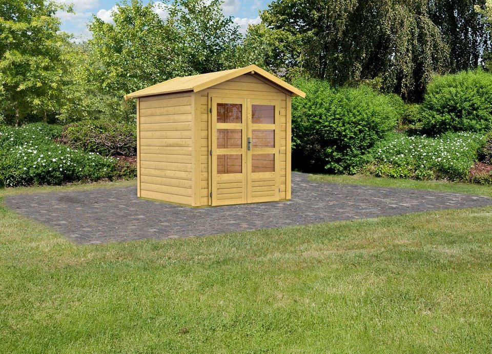 Gartenhaus »Taranis 1«, BxT: 204x204 cm in natur