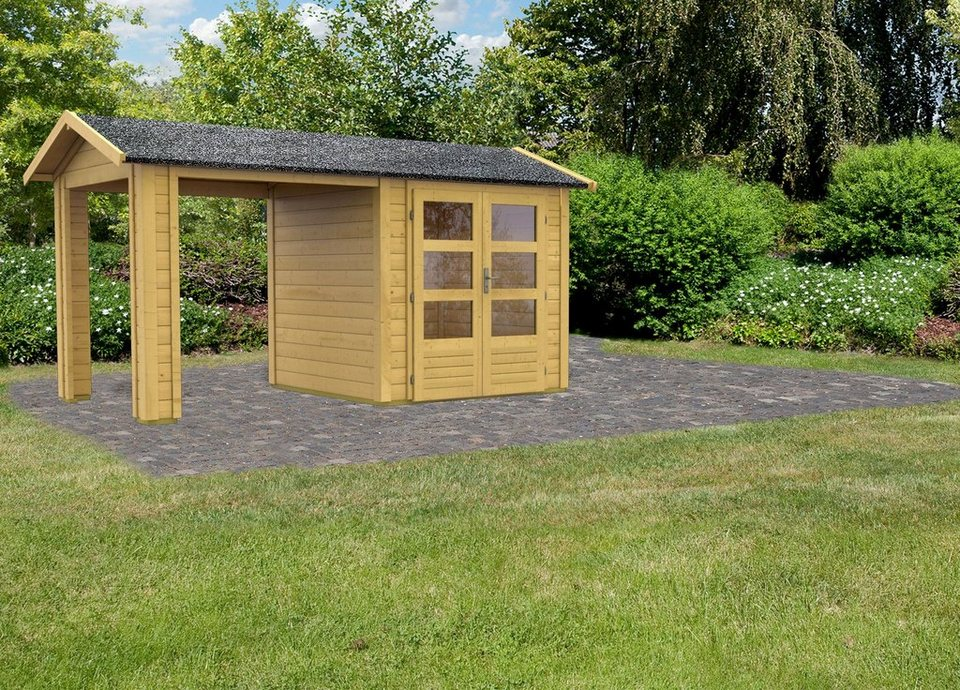 KARIBU Gartenhaus »Taranis 1«, BxT: 204x204 cm in natur