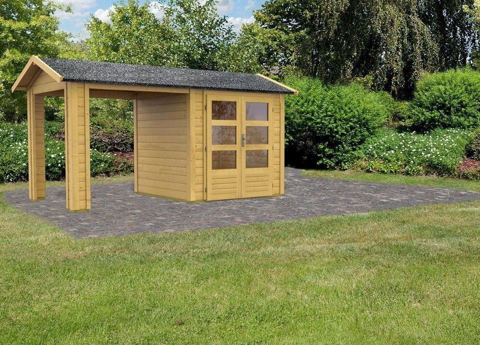 Set: Gartenhaus »Taranis 1«, BxT: 204x204 cm in natur