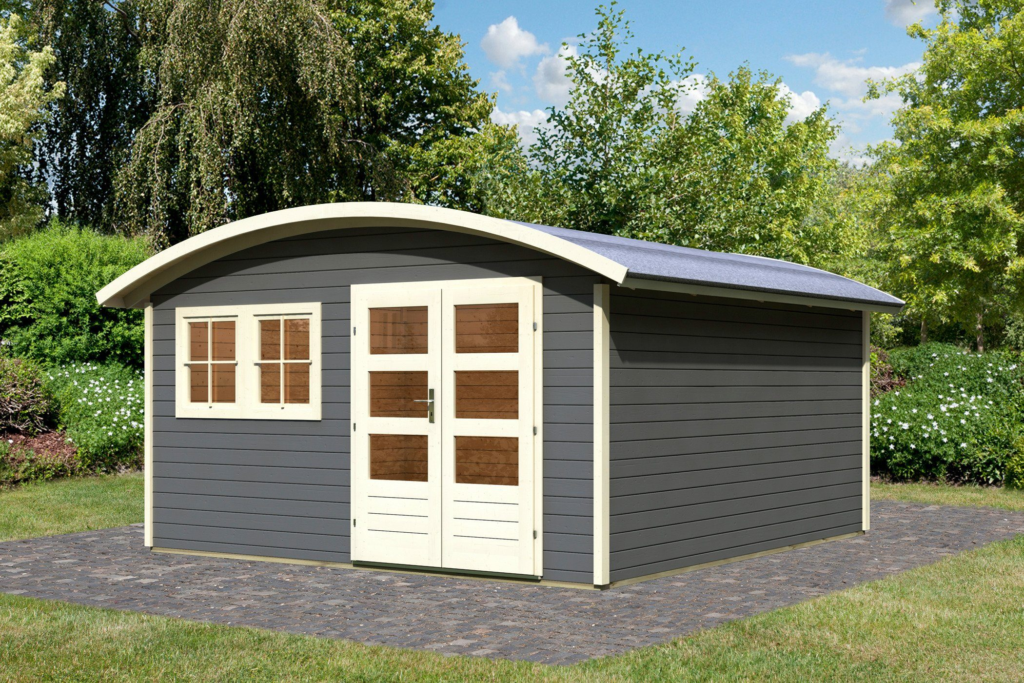 KARIBU Gartenhaus »Friedland 3«, BxT: 391x396 cm