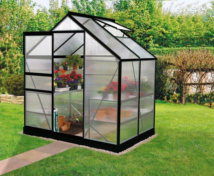 Gewächshaus »Calypso 3000/4«, BxT: 192x154 cm in schwarz
