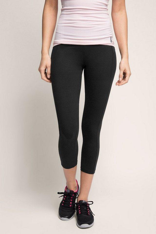 ESPRIT Sport Capri aus Baumwoll-Stretch Jersey in BLACK