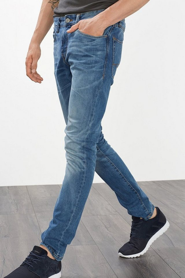 ESPRIT CASUAL 5 Pocket Jeans aus Stretch Denim in DARK BLUE