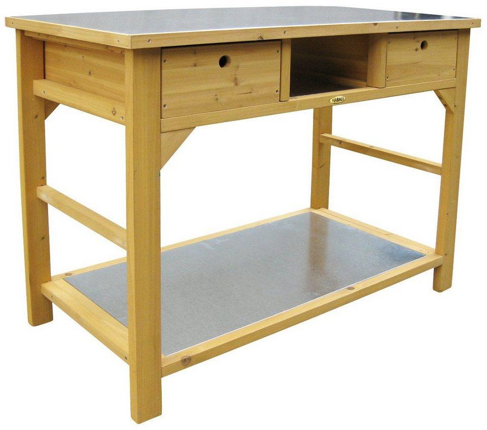habau pflanztisch aus kiefernholz bxtxh 110x55x99 cm naturfarben online kaufen otto. Black Bedroom Furniture Sets. Home Design Ideas