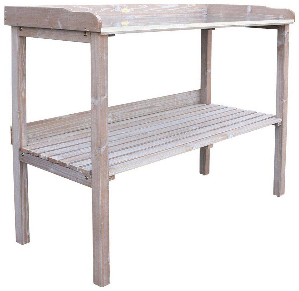 habau pflanztisch aus kiefernholz bxtxh 98x48x95 cm wei online kaufen otto. Black Bedroom Furniture Sets. Home Design Ideas