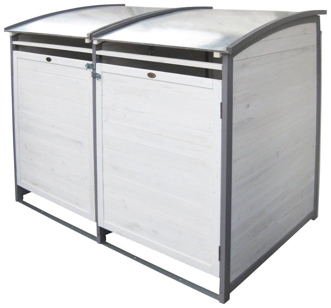HABAU Mülltonnenbox , für 2x120 l aus Holz, B/T/H: 122/76/116 cm