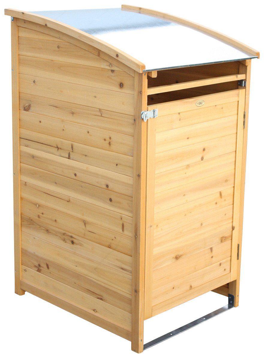 HABAU Mülltonnenbox , für 1x120 l aus Holz, B/T/H: 65/75/115 cm