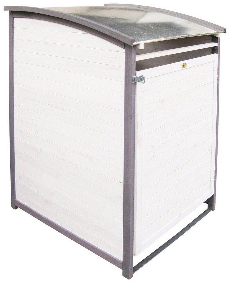 HABAU Mülltonnenbox , für 1x240 l aus Holz, B/T/H: 81/92/124 cm in weiß/grau