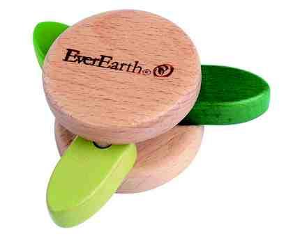 EverEarth® Rassel aus Holz, »Klapperspielzeug - Blatt«