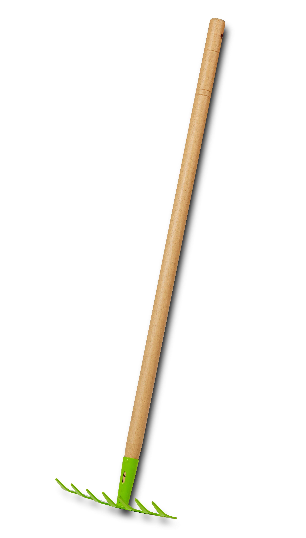 EverEarth® Kinder-Rechen mit Griff aus Holz