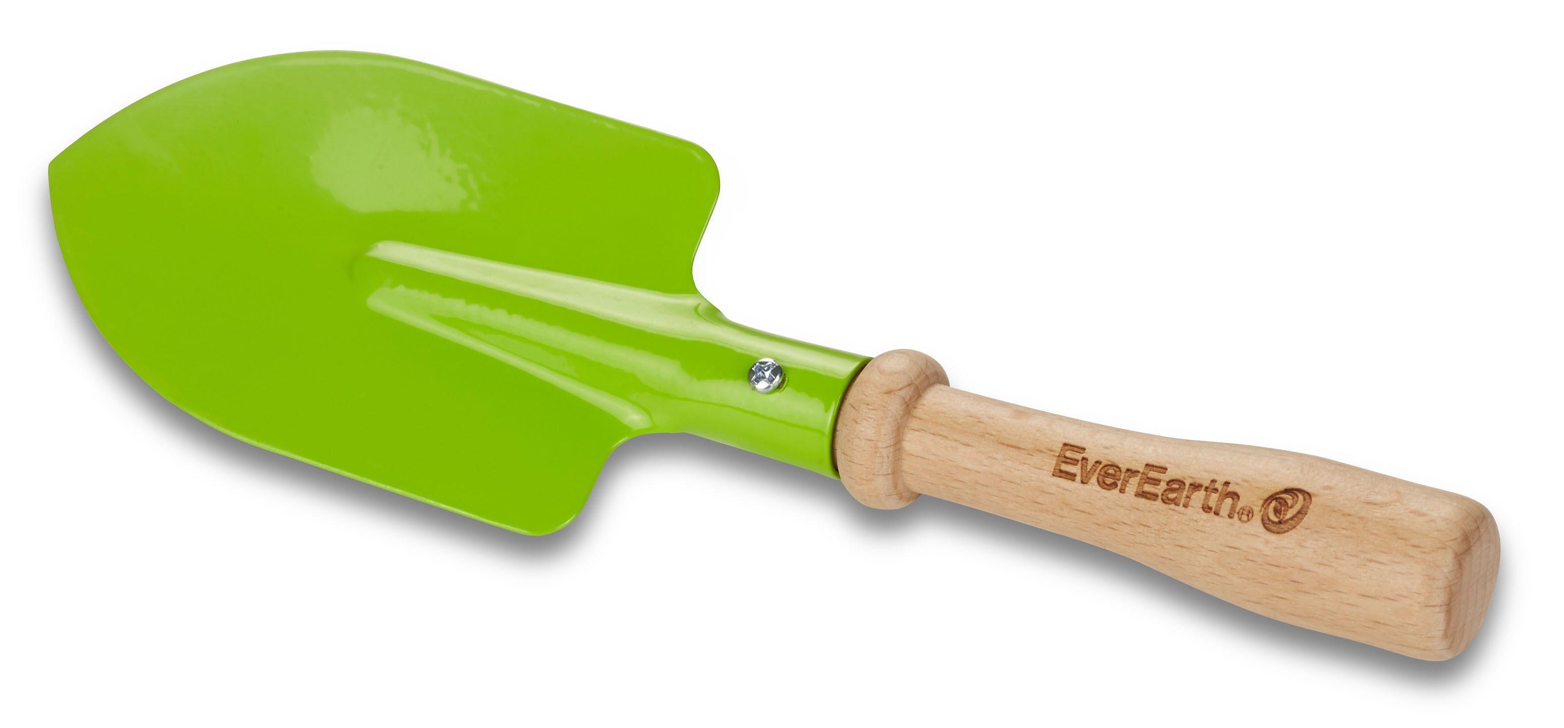 EverEarth® Kinder-Handspaten mit Griff aus Holz